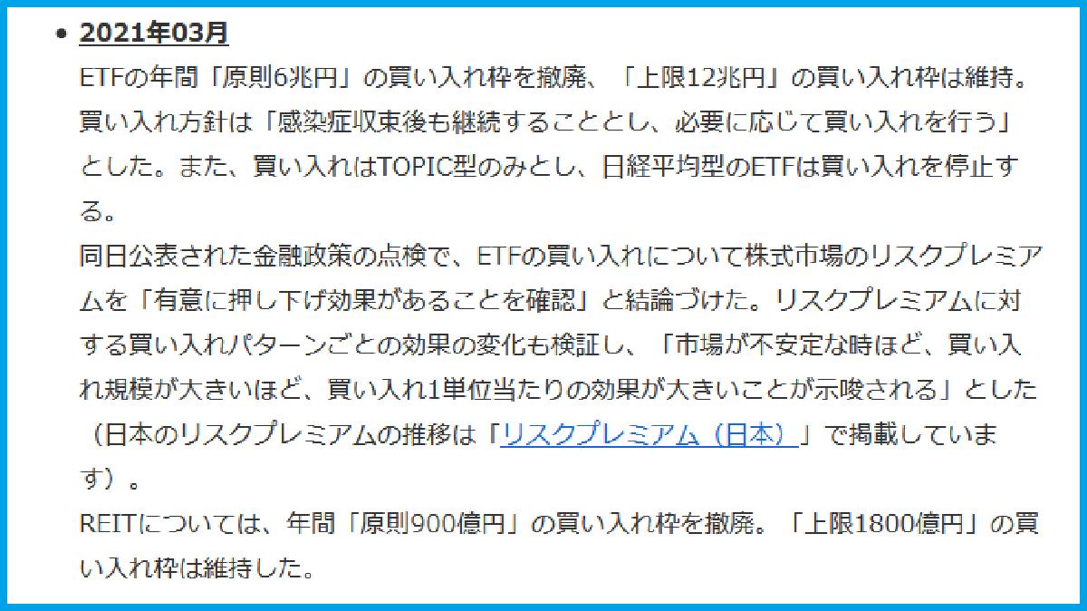 日銀ETF買い変更