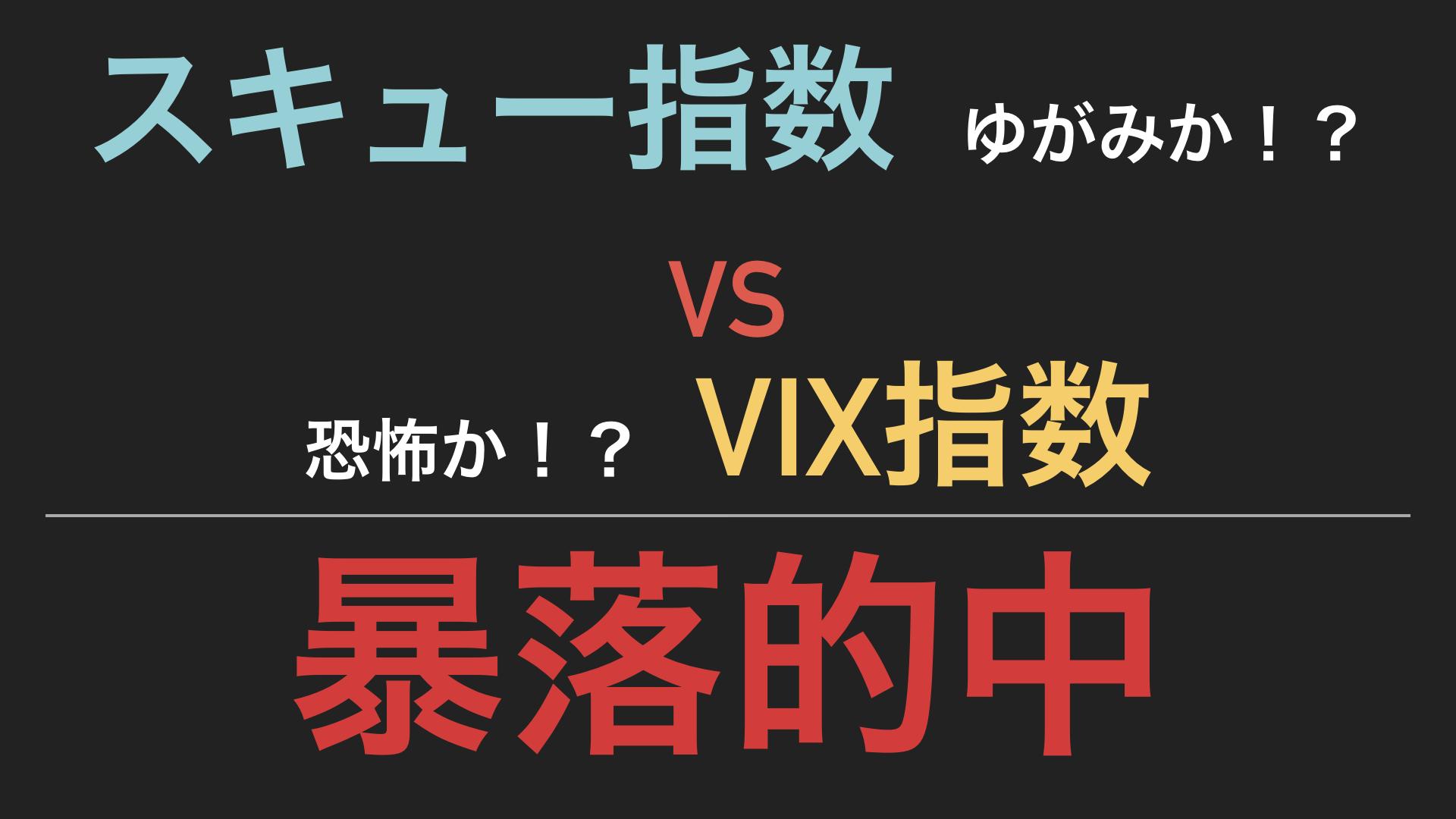 スキュー指数とvix指数