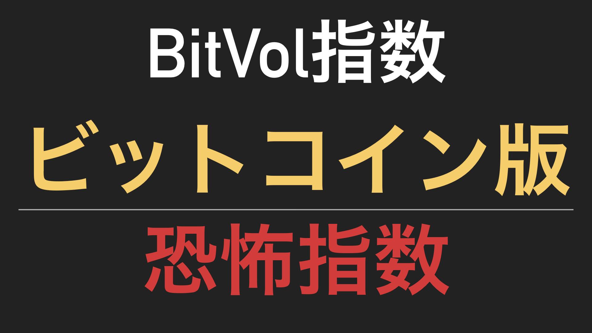 bitvol指数の紹介
