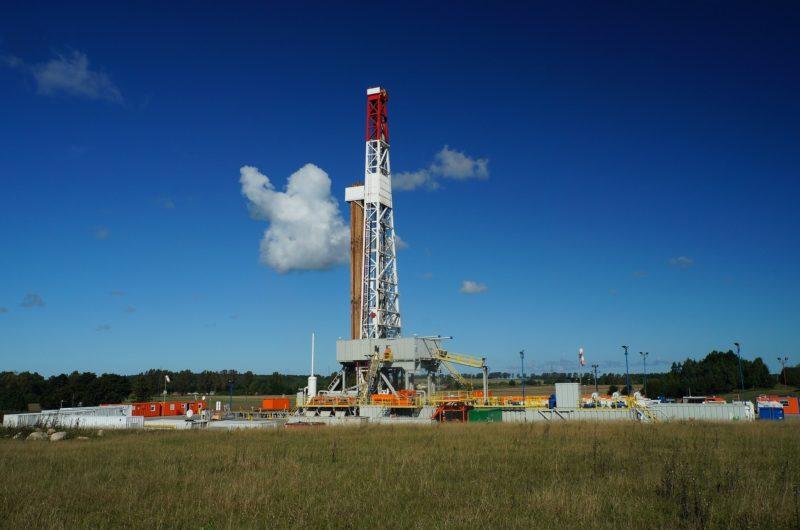天然ガスの掘削リグ